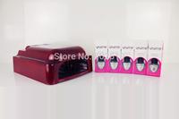 Professional 36W UV Curing Lamp Gel polish Set Soak Off Gel Kit With Primer Base Top Coat