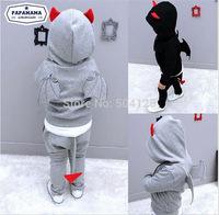 Hoodie Jacket Pants Sports Suit Costume Halloween Autumn Boys Girl Batman Zipper