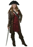 Hot sell 2014 Hallowmas costume COSPLAY fancy ball Pirates of the Caribbean Elizabeth Pirates cloth
