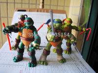 4pcs/set Brand New TMNT Ninja Leonardo/Raphael/Michelangelo/Donatello 12cm PVC Cartoon Action Figure Model Toy -Free Shipping