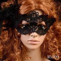 Min. order $10 Women Fashion 2014 Wholesale Elegant Black Eye Mask Lace Sexy Mask For Prom Party Halloween Masquerade