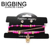 BigBing jewelry Fashion beads charm Bracelet many colors fashion jewelry good quality nickel free G342