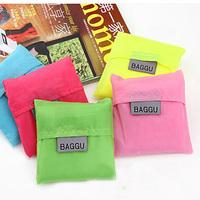 Y012 2015 Fashion candy color usefulfoldable bag discount desigual polyester folding eco handbag Portable big shopping bag