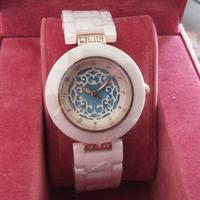 New Arrived Women Brand White Ceramic Watch CZ Diamond Dress Wristwatches with LOGO Valentine's day/Christmas gifts
