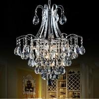 Fedex best K9 transparent crystal G4 lamp pandent chandelier light (50cm 65cm) for home dinning room / hotel / restaurant decor