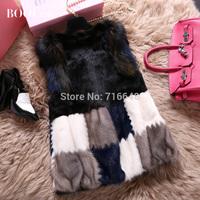 Marten overcoat female sleeveless o-neck women's mink fur coat