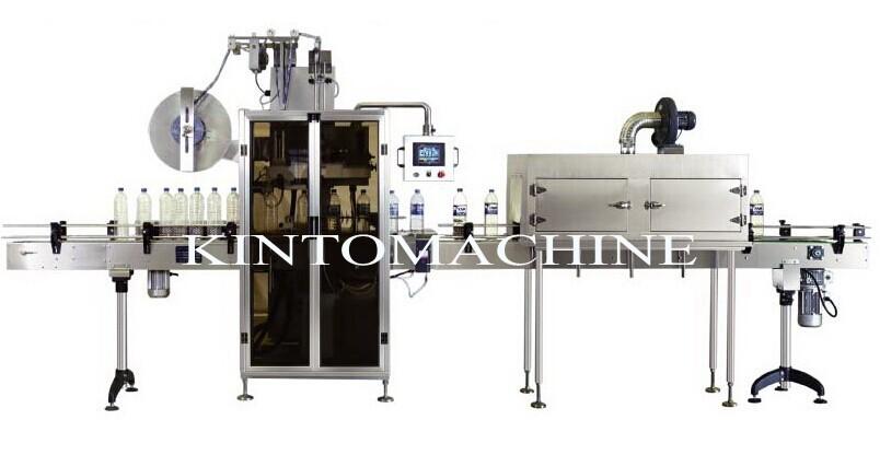 Automatic label machine and hot shrinking machine PVC labeling machine 304 stainless steel labeling machine(China (Mainland))