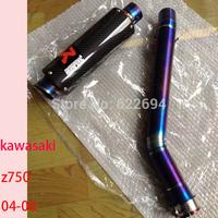 titanium alloy handmade customized z750 exhuast for kawasa Z750  exhausts+midpipe+spring+fixed ring