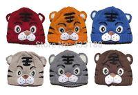 Baby Girls Boys Kids Toddler Crochet Knit Cute Tiger Hat Child Cap Beanie Bonnet