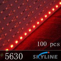 100 m/lot wholesale SMD5630 red color rigid strip light ,DC12v ,72 leds ,1m long per pcs ,express free shipping