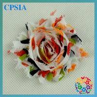multicolor chiffon artificial fabric shabby flower trim wholesale 240pcs/lot