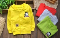 New 2014 Spring Autumn Baby Clothing for Newborn,Kids O-neck Long sleeve baby boy and girl 100% Cotton baby Coat 3 color