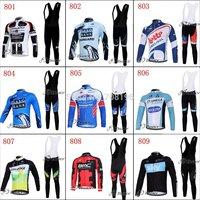 2012 Hot ! Winter Fleece Long Sleeve Cycling Jersey /bike Jersey / cycling clothes + Bib pants .Free shipping !