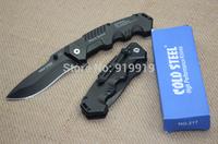 High Quality, Cold Steel HY217 Hunting Pocket Knife Tactical Folding Knives Blade Sanding Black Aluminum Handle