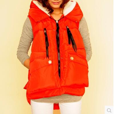 Стиль европа без тары причинно короткая закрытый воротник вниз парка жилет женщины жилет пальто толстый парка куртки M0054