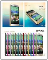 Love mei Hippocampal Buckle Aluminum Bumper Metal case For HTC one E8 Free shipping MOQ:20pcs