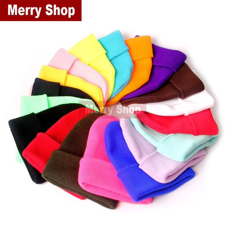 2014 New Fashion Knitted Neon Women Beanie Girls Autumn Casual Cap Women's Warm Winter Hats Unisex Men Warm Winter Hats(China (Mainland))