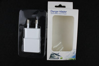 EU Hot Selling 200pcs Universal Travel EU Plug Adapter With Dual USB For iPhone 5 5S For Samsung Galaxy S5 With Fine Pack