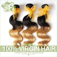 Ombre Hair Extensions Two Tone Black To Blonde Malaysian Virgin Hair Body Wave Cheap Hair Extensions 3/4Pcs Lot Cheap Human Hair