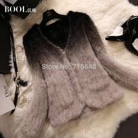 Marten overcoat female V-neck long-sleeve women's mink fur coat