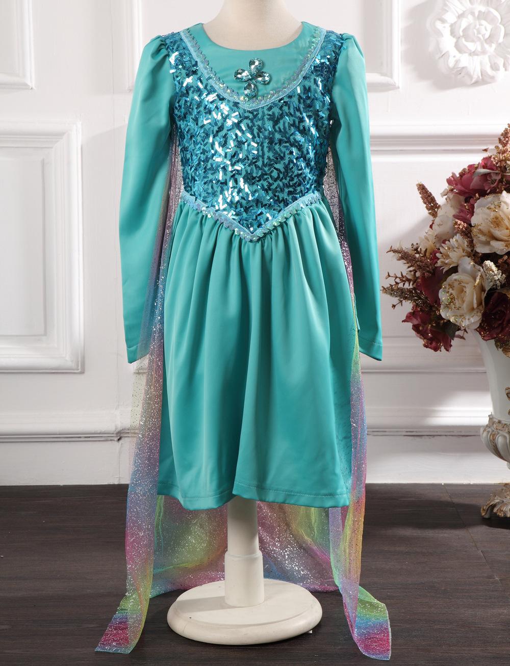 NEW Children's Dress Elsa Dress Baby Girls Dress Party costume(China (Mainland))