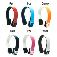 Promotion Adjustable Wireless Bluetooth Stereo Headset Headphone with mic for Cellphone PC MP3 MP4