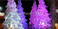 Christmas Tree LED Night Light Nightllight Halloween Gifts Crystal Lamp Lighting 7 Changeable Colors MYY6360
