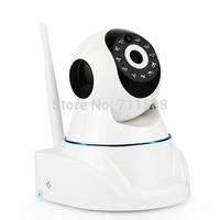 Free Shipping HD Wireless IP Camera Wifi 720P MegaPixel with Pan/Tilt SD Card Slot and IR Cut 720p(1280x720)