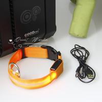 40pcs/lot Flashing USB LED pet collar with chargeable luminous dog collar