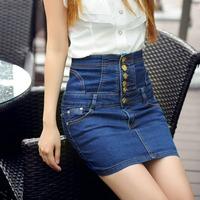 2014 New high waist denim women skirt waist was thin plus size women Clothing free shipping d9108