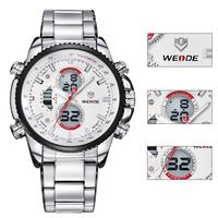 Relogios Masculino WEIDE Quartz Military Watches Sports Watch,Top Luxury Brand Business Men Watch Water Resistant Digital Watch