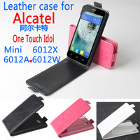 For Alcatel 6012A Case 6012D Leather Case For Alcatel One Touch Idol mini 6012X 6012A 6012W 6012D phone Cases Flip Cover