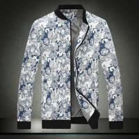 Hot Selling Winter&Autumn Men's Fashion Jackets Coat Casual Jackets male jacket slim flower COTTON jacket plus size M-5XL