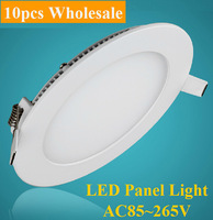 10pcs Wholesale 25W LED Panel Light ceiling bulb Downlight AC85-265V Warm /Cool White