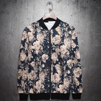 Free shipping Winter&Autumn Casual Jackets Coat Men's Fashion Jackets male flower jacket thin baseball COAT male outerwear