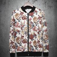 Free shipping Winter&Autumn Casual Jackets Coat Men's Fashion Jackets male flower jacket baseball shirt male outerwear thin