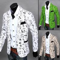2014 New Hot Sales Men's Jacket 6636f45 slim three-dimensional cut male suit male 350g blazer