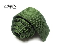Knitted Ties Slim Narrow Neck Tie Men's Necktie Solid  wool high quality green color