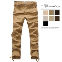 Hot Selling cotton Men's Fashion Cargo Pants overalls zipper pocket loose plus size casual pants male trousers Military Pants