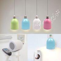 Wireless Bluetooth Speaker LED Lamp E27 Adjustable Brightness LED Lighting Lamp with Bluetooth Loudspeaker