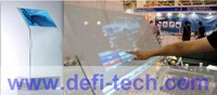 "DEFI 65"" transparent Interactive Touch Foil Film for  glass / 10 points touch film Side Tail"