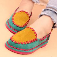 2014 autumn color block decoration vintage fashion flats casual shoes flat fashion shoes fashion