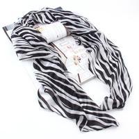 15pcs Trendy Long Zebra Printed Chiffon Scarf Women Girls Soft Smooth New FreeShipping Brand New