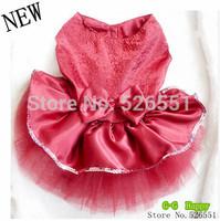 2014 HOT! Dog apparel Clothing for pets pet clothing pet apparel  Pet princess dress Shiny dress dogs skirt  free shipping+gifts