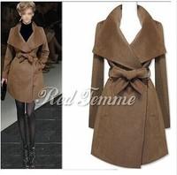 2014 new big lapels Europe long paragraph Ms. cashmere coats jackets