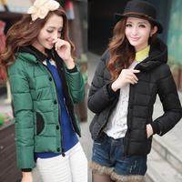 good quality 2014 new winter coat hooded down jacket thick coat short coat women down women's coat