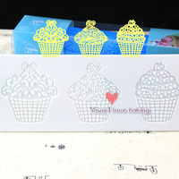 Three ice cream model design Silicone cake lace mat,perfect cake decorating mould,silicone cake instant lace