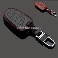 Exquisite Fashion Leather Car Key Case For Hyundai Santa IX45,Car Key Holder/Key Bag Free Shipping