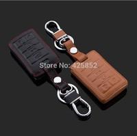 Fine Leather Car Key Case For Cadi SRX/XTS/ SLS /ATS /CTS 4 Button/5 Button, Car Key Holder/Key Bag Free Shipping