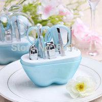 Fashionable Style Green Apple Design Manicure Set  Apple Manicure Kits Bridal Shower Favors+FREE SHIPPING+100pcs/lot